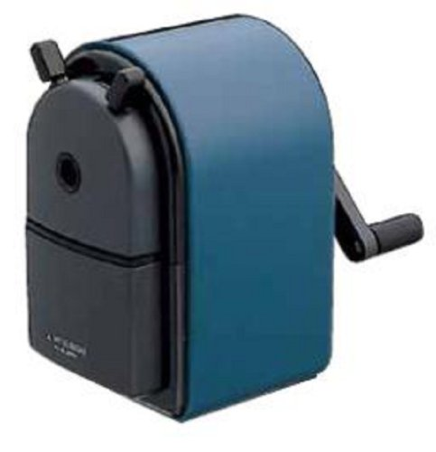 Uni KH-20 Hand Crank Wooden Pencil Sharpener - Blue (japan import)