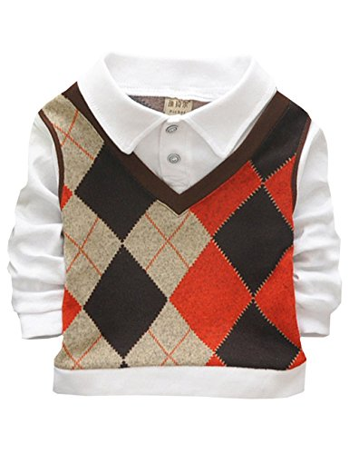 DD-CM Baby Boys' Faux Twinset Plaid