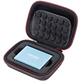 Hard Case for Samsung T5/T3/T1 Portable 250GB 500GB 1TB 2TB SSD USB 3.0 External Solid State Drives, Carrying Storage Bag - Black
