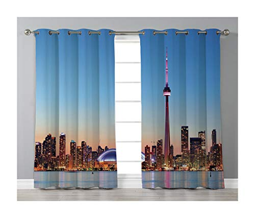(Goods247 Blackout Curtains,Grommets Panels Printed Curtains for Living Room (Set of 2 Panels,52 by 72 Inch Length),Modern)