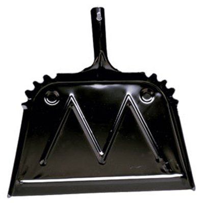 Impact Products 4216-90 16'' Black Metal Dust Pan - Quantity 4 by Impact Products (Image #1)