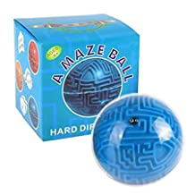 Eden Fghk Magic Maze Ball Mini 3D Magic Puzzle Intelligence & Idea Maze Game Toys - Quiet Toy for kids and Adults (Blue)