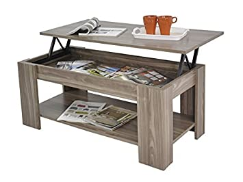 lift top coffee table with storage. Home Source Caspian Lift Top Coffee Table With Storage And Shelf, MDF/Chipboard,