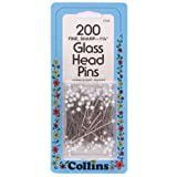 Glass Head Pins by Collins - 200 Ct.