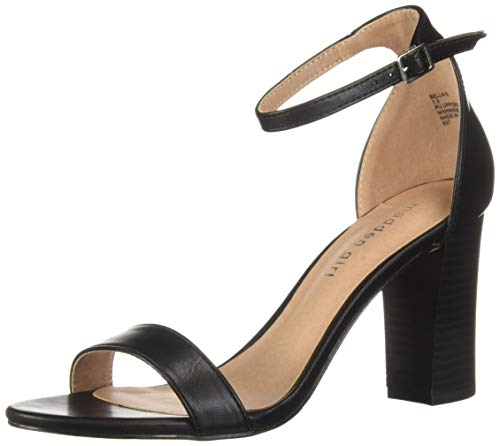 Madden Girl Women's BEELLA Heeled Sandal, Black, 10 M - Mid Black Heeled