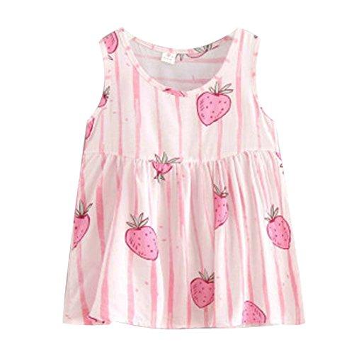 Koala Superstore [V] Kids' Pajama Home Nightdress Sleeveless Cotton Dress Vest Skirt for Girls by Koala Superstore