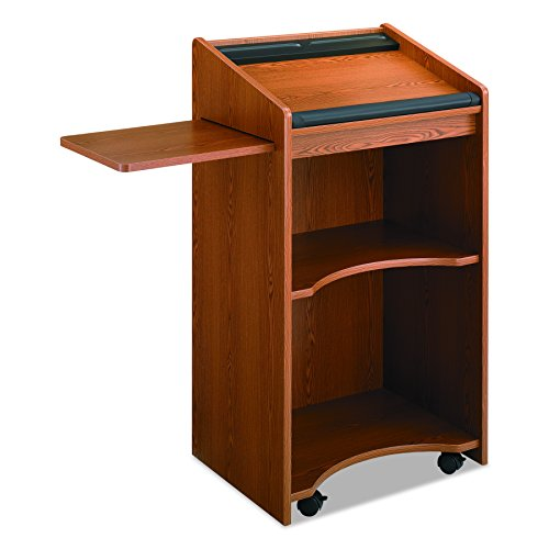 Safco Products 8918MO Executive Mobile Lectern, Medium Oak