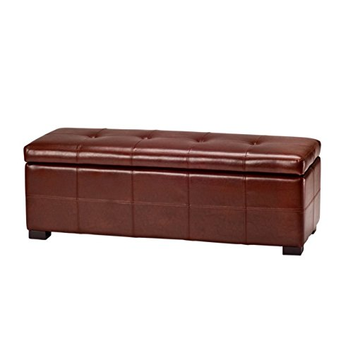 Amazon.com Safavieh Hudson Collection NoHo Tufted Cordovan Leather Large Storage Bench Kitchen u0026 Dining  sc 1 st  Amazon.com & Amazon.com: Safavieh Hudson Collection NoHo Tufted Cordovan Leather ...