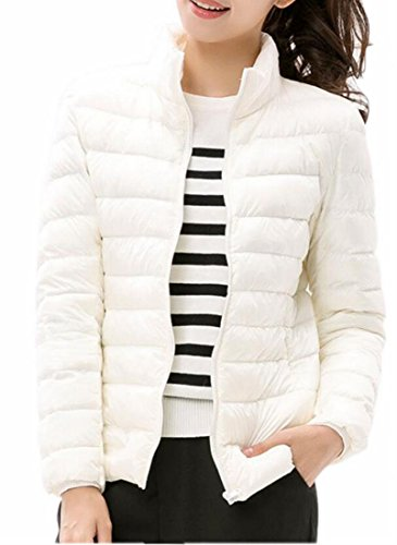 Fly 10 Up Collar Outdoor Down Coat uk Puffer Zip Year Quilted Women Jacket Stand rSqO0rX