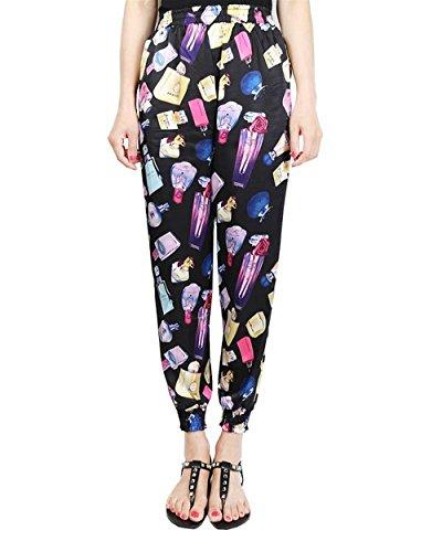 Moda Baggy Tempo Trousers Eleganti Estivi Di Libero Tasche Giovane Waist Colour Lunga Vita Sottile Elastica Con Stampate Stoffa High 6 Pattern Grazioso Pantaloni Women Donna 1wFTtx