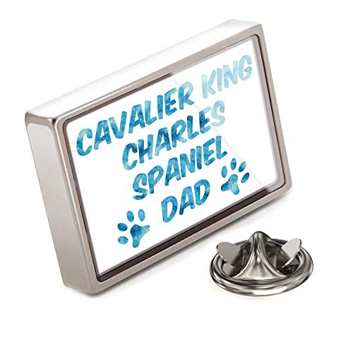 NEONBLOND Lapel Pin Dog & Cat Dad Cavalier King Charles Spaniel