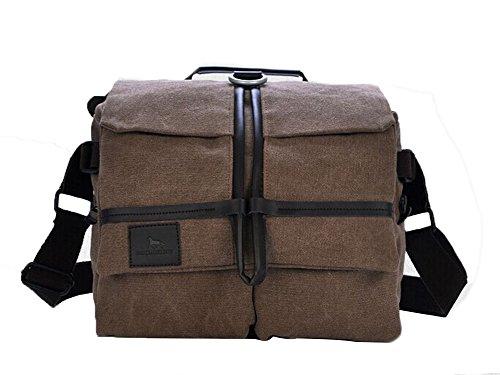 Genda 2Archer Protección de la cámara SLR bolsa de mensajero de Crossbody del bolso del hombro MJH-1179 (café) café