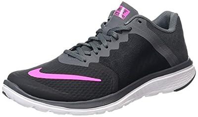Nike Womens FS Lite Run 3 Black/Pink Blast/Dark Grey/Wht Running Shoe 6 Women US
