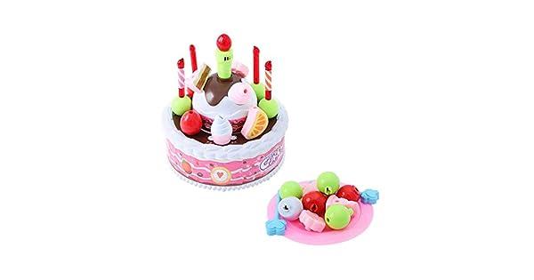 Amazon.com: Juguete para tarta de cumpleaños para niños con ...