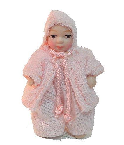 Melody Jane Puppenhaus Kleines M/ädchen in Rosa Jacke Miniatur 1:12 Porzellan-Menschen