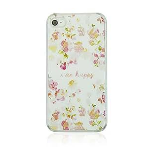 Pc Plastic Hard Back Case Skin Cover Vintage Flower For Apple Iphone 4S-