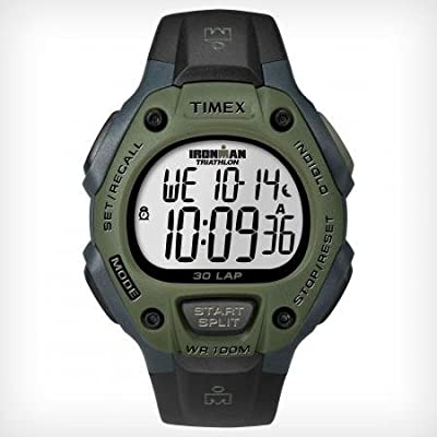 Ironman 30-Lap Black & Dark Green Watch