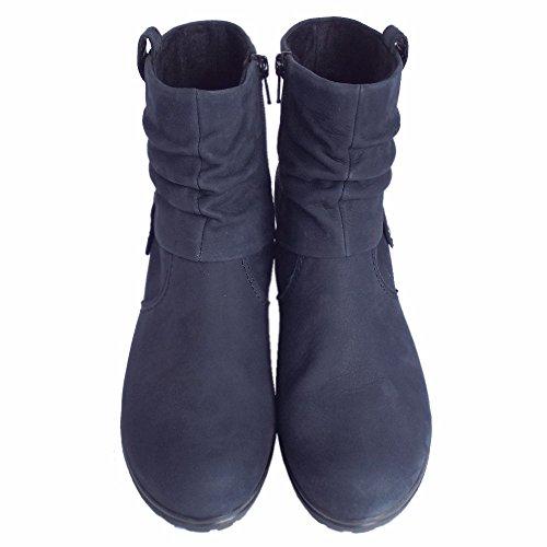 in Brignall Ladies Navy Gabor Navy Nubuck Nubuk Boots Ankle A4Ox6xnW