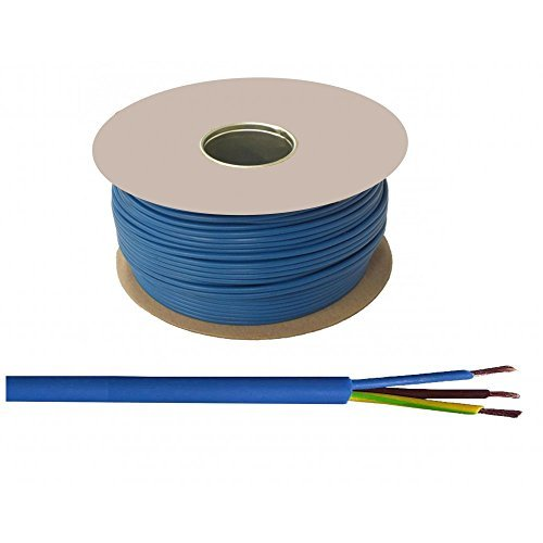 Arctic Cable 100 Meter 2.5mm Artic Metre Blue 230 v 240 Volt 3 Core M Extension by DYNATEC