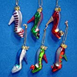 MEDALLION COLLECTION GLASS HIGH HEEL SHOE ORNAMENTS - Christmas Ornament