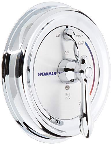 Speakman CPT-3400 Sentinel Mark II Pressure Balance Diverter Shower Trim, Polished Chrome (Valve Not Included)