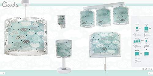 Dalber Clouds Hängelampe Kinder, Plastik, Blau, 33 x 33 x 25 cm