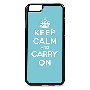 Blue Keep Calm and Carry On Snap-on Hard Back Case Cover For Apple Iphone 6 4.7 Inch