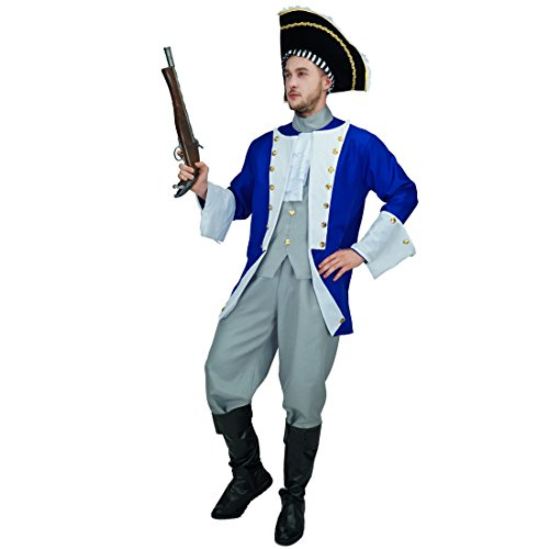 flatwhite Adult Men's Colonial General Costumes -