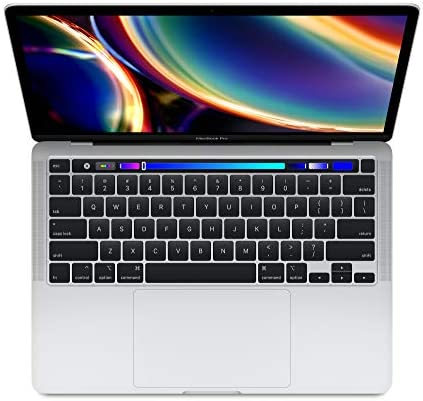 Apple 13″ MacBook Pro with Touch Bar, 10th-Gen Quad-Core Intel Core i7 2.3GHZ, 32GB RAM, 1TB SSD, Silver (Mid 2020)