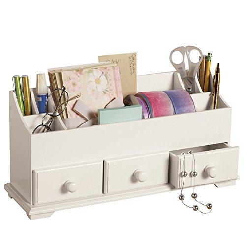 Drawer U0026 Makeup Storage Organizer For Desk Dresser Bathroom Countertop,  White