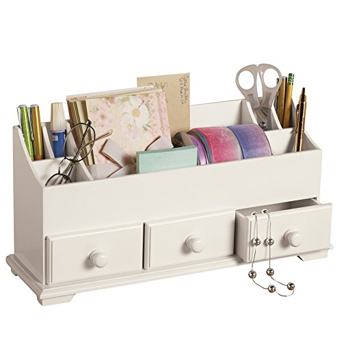 Drawer U0026 Makeup Storage Organizer For Desk Dresser Bathroom Countertop,  White