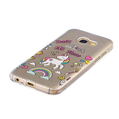 Funda Galaxy A3 2017, CaseLover Carcasa para Samsung Galaxy A3 2017 A320 (4.7 Pulgadas) Ultra Delgado Transparente Suave Silicona TPU Flexible Gel Protectora Cubierta Resistente a los Arañazos Tapa Li Unicornio