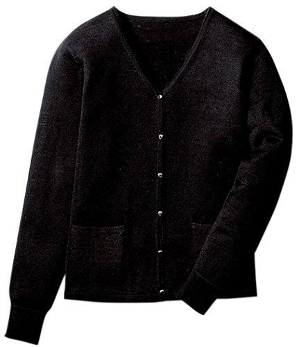 フォーク 【静電気/毛玉防止性能】 レディース ナースカーディガン A303 ブラック L