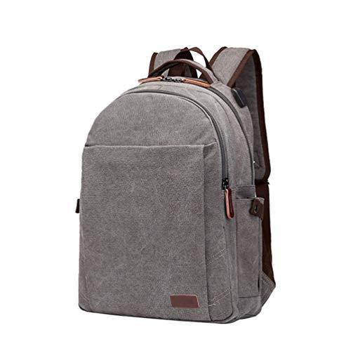 Voyage sac Toile Unisexe dos Gris CHENYANG Weekend dos à Portable sac à école sac Sac Collège Ordinateur pour AOE1q