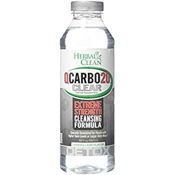 Herbal Clean Qcarbo20 Clear Cleansing Formula Supplement, Lemon-Lime, 20  Ounce