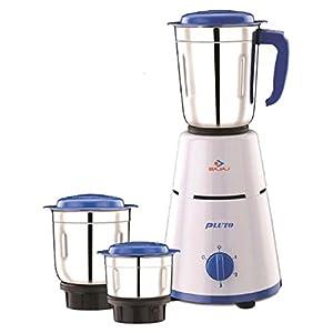 Bajaj Pluto Mixer Grinder, 500W, 3 Jars (White)