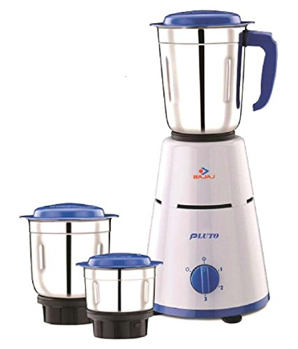 Bajaj Pluto Mixer Grinder 500W 3 Jars White best price deals and offers