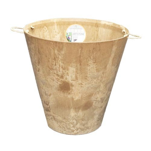 アートストーン ラウンド 43cm ベージュ ロープ付 /底面給水型植木鉢(底栓付) B015V3P4AG   43cm