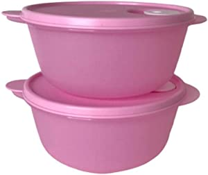 Set of 2 Crystalwave Microwave Bowls