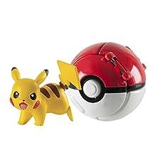 Pokemon T18874 Throw 'N' Pop Pikachu and Poke Ball Action Figure