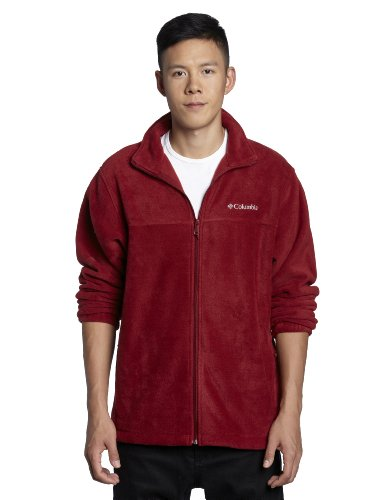 Columbia Men's Steens Mountain Full Zip 2.0 Soft Fleece Jacket, Red Element, Medium