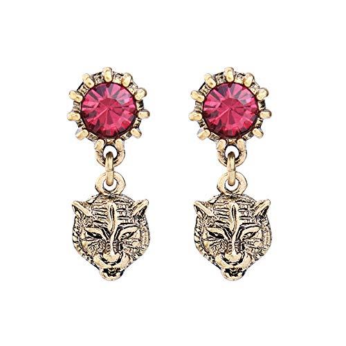 tiger head earrings - 8