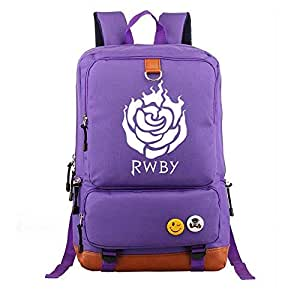 Asdfnfa Backpack, Student School Bag Game Surrounding Computer Men and Women Casual Large Capacity Travel Knapsack (Color : Purple)
