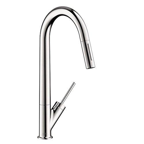 hansgrohe chrome kitchen faucet - 8