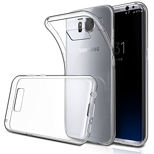 Samsung Galaxy S8 Case Clear 5.8″, Simpeak Soft Clear Transparent Protector Case for Samsung Galaxy S8 5.8″, Anti Slip, Scratch Resistant