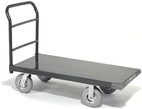60 x 30 8 Pneumatic Casters 1200 Lb Platform Truck w//Steel Deck Capacity