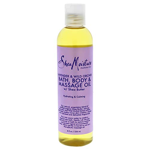Oz Body Oil 8 (SheaMoisture Lavender/Wild Orchid Bath, Body & Massage Oil, 8 Ounce)
