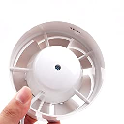 Inline Duct Booster Fan Cooling Exhaust Blower Air Cooling Vent Fan ABS (4\