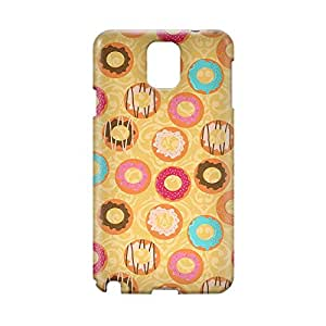 Donuts and Coffee Samsung Note 3 3D wrap around Case - Design 1