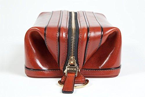 Bosca Old Leather Zipper Utility Kit (One size, Cognac (32)) by Bosca